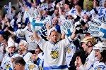 Болельщики сборной Финляндии по хоккею, архивное фото
