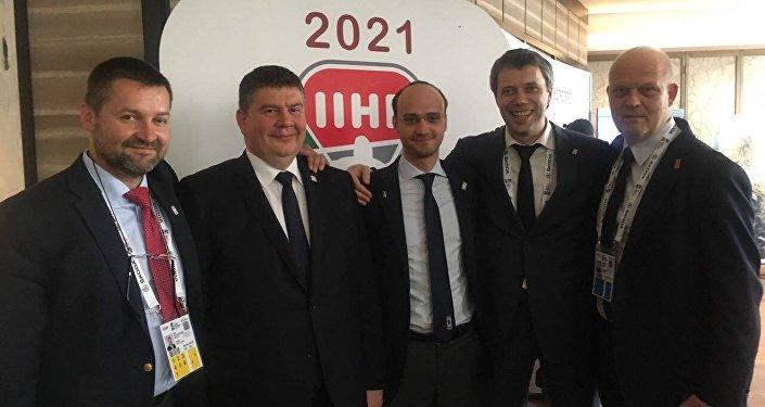 Руководители хоккейных федераций Беларуси и Латвии