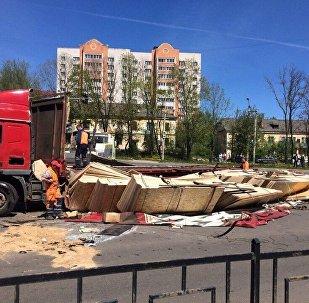 Последствия ДТП в Смоленске