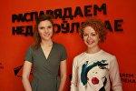 Представители минского центра разработки Wargaming ― pr-менеджер Алена Козуб и маркетинг-менеджер по киберспортивному направлению Вероника Ходовец