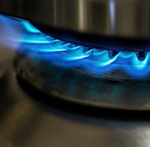 Горелка газовой плиты, архивное фото