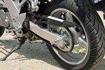 Колесо мотоцикла, архивное фото