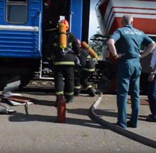 Загорание в поезде Минск - Брест