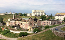 Сгоревшее здание старого пивзавода Гродно