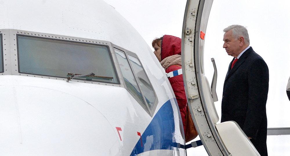 Генеральный директор Национальной авиакомпании Белавиа Анатолий Гусаров