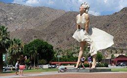Статуя Мэрилин Монро в Калифорнии