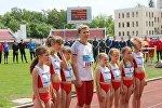 Церемония проводов легкоатлетки Юлии Нестеренко в Бресте