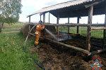 Пожар в Чечерском районе