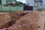 Обрушение грунта в траншее в Барановичах