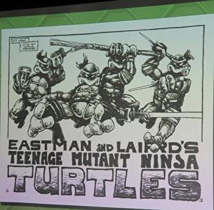 Чарапашкі-ніндзя на малюнку аўтараў комікса