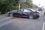 Разбитый в Бресте автомобиль