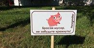 Знак Бросая мусор, не забудьте хрюкнуть! в Гродно
