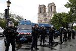 Полиция на месте инцидента в Париже