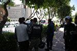 Полиция на месте инцидента в Тегеране