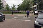 Возле посольства США в Киеве произошел взрыв
