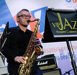 Нідэрландскі джаз-мэн Харысан Янг выступаў у суправаджэнні Vip-Jazz Андрэя Славінскага