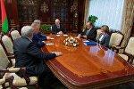 Втреча Александра Лукашенко и Германа Грефа
