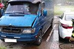 Пожар микроавтобуса в Минске