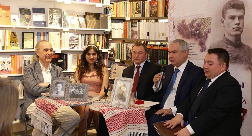 Министр иностранных дел Беларуси Владимир Макей и посол РБ в Испании Павел Латушко