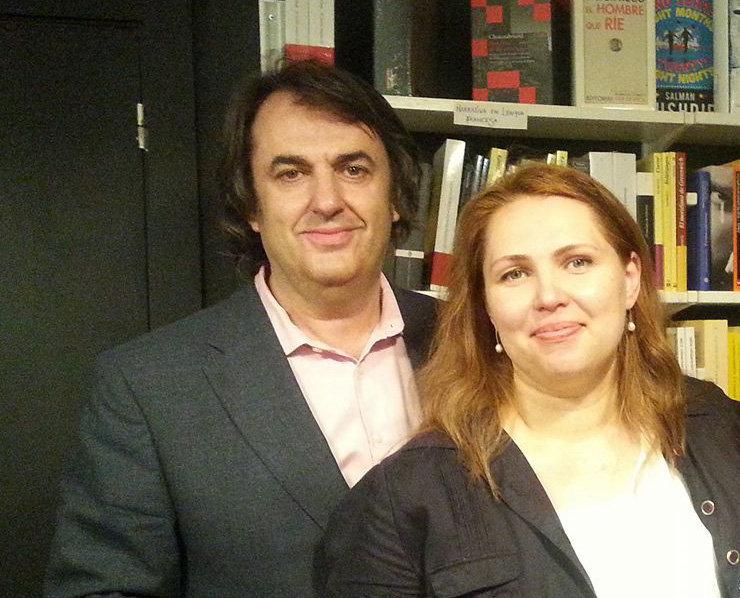 Вера Кухарева и Мигель Анхель де Рус
