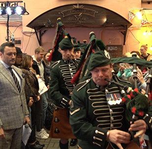 Королевские музыканты и белорусские волынщики сыграли вместе