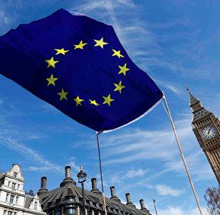 Флаг ЕС у Лондане