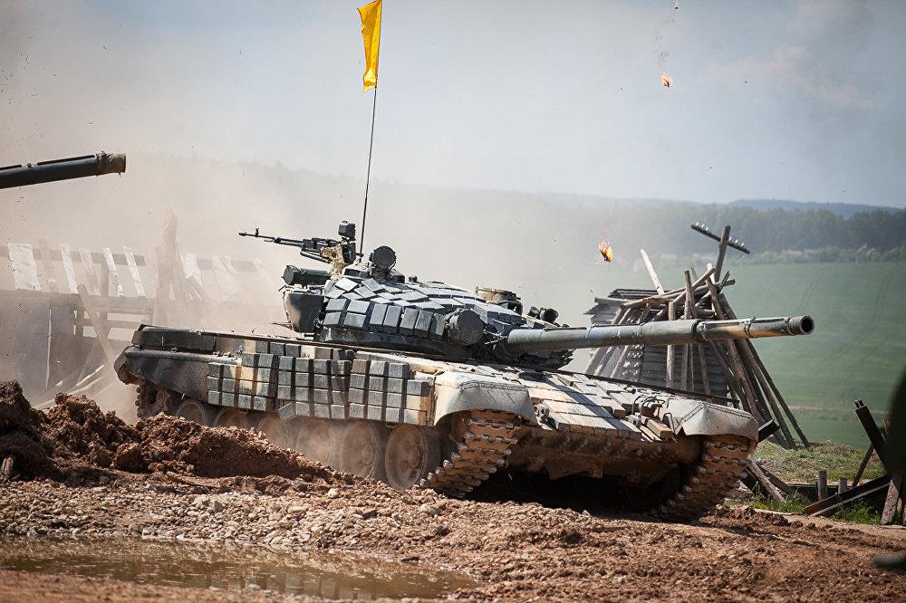 Арганізатары падрыхтавалі для танкістаў тры агнявыя рубяжы.