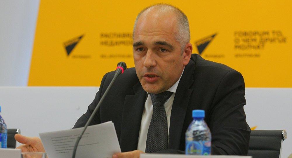 Первый секретарь посольства России в Республике Беларусь Андрей Грешников