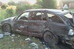 Разбитый в результате ДТП BMW