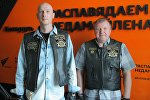 Представители клуба Minsk Chapter Belarus Harley Owners Group Павел Баранов и Иван Чура
