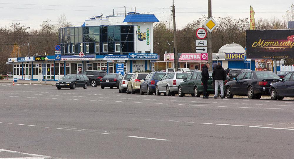 Чарга на беларуска-польскім памежжы, архіўнае фота