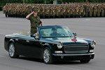 Автомобиль китайского производства Hongqi (Красная звезда), который будет принимать участие в параде.