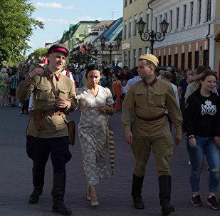 Последний мирный день 1941 года реконструировали в Бресте