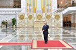 Александр Лукашенко во Дворце Независимости