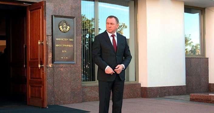Министр иностранных дел Беларуси Владимир Макей, архивное фото