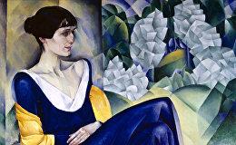 Картина советского художника и графика Натана Исаевича Альтмана Портрет Анны Ахматовой