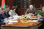 Совещание президента Беларуси Александра Лукашенко с Администрацией