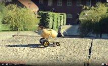 Беспілотная бульба: польскі інжынер паказаў колавы бульбаход