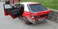 Mazda, сбившая женщину в Гродно