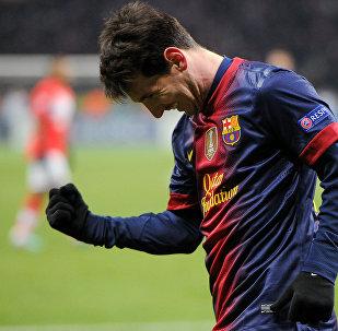 Игрок ФК Барселона Лионель Месси