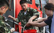 Китайские спасатели, архивное фото