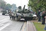 Танк попал в ДТП в Минске