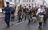 Реконструкция партизанского парада прошла в Минске