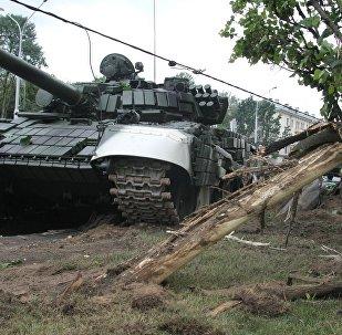 ДТП с танком в Минске