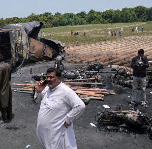 Пожар в Пакистане