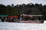 Поисковые работы на месте затопления судна в Колумбии