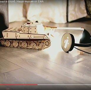 Видеофакт: белорусы смоделировали ДТП с танком в Минске