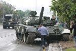 ДТП с танком Т-72 в Минске