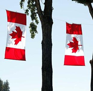 Сцягі Канады, архіўнае фота