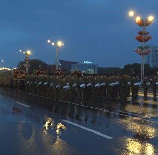 Генеральная репетиция парада в Минске 28 июня